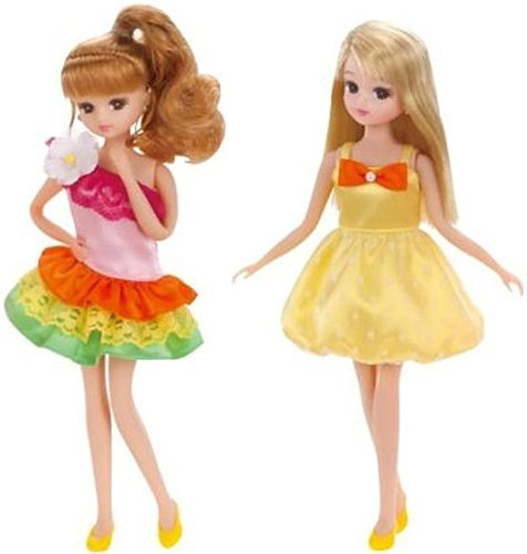 Licca-chan LW-18 party one-piece set (Tropical & lemon) by TOMY