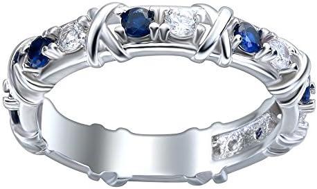 レディース ネイビー ジルコン 925シルバー ジュエリー アクセサリー 誕生日 彼女 プレゼント 婚約指輪 結婚式 記念日 リング 7号