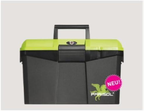 Parisol Putzbox 400x275x245mm mit praktischer Hockerfunktion incl Hufkratzer in Schwarz