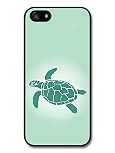 New Turtle Ocean Design in Green Stencil Fashion Style Case For HTC One M7 Cover