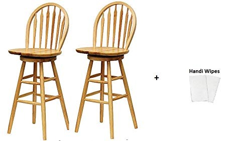 Arrow Wood Natural Chair (Winsome Wood Windsor Chair Set of 2, (Natural Finish 30