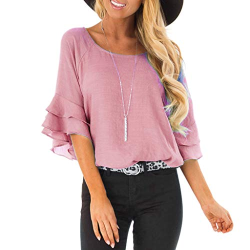 NCCIYAZ Womens T-Shirt O-Neck Layred Short Sleeve Top