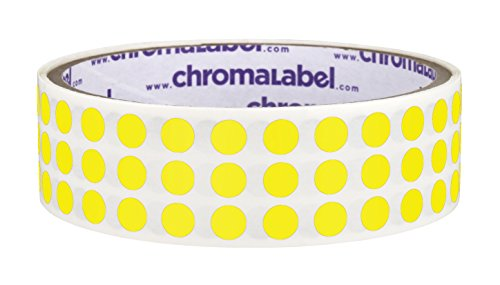 Yellow, 1/4 Color Coding Dot Labels w/Permanent Adhesive | 1,000-0.25 inch Circle Stickers per (Yellow Dots)