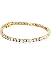 Platinum or Yellow Gold Plated Swarovski Zirconia Tennis bracelet