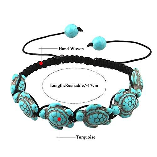 GAJSDJHN Bracelet Hand Woven Turtle Hemp Bracelets with Turtle in Color Hawaiian Sea Turtle Bracelet Hemp Bracelet Handmade Rope Chain