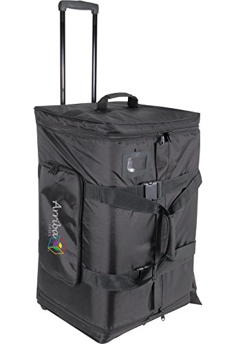 Arriba Cases As-175 Padded Rolling Pro Speaker Transport Bag Dimensions 17.5X15X27.5 Inches by Arriba Cases