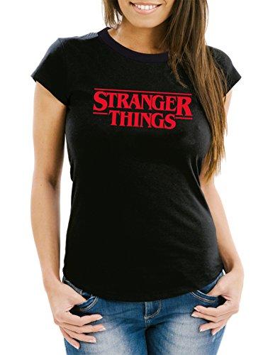 Stranger Things T-Shirt Girls Black Certified Freak