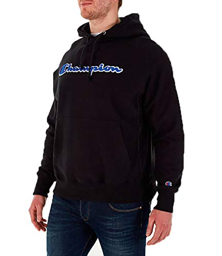 Champion LIFE Men's Reverse Weave Pullover Hoodie, Black, Large
