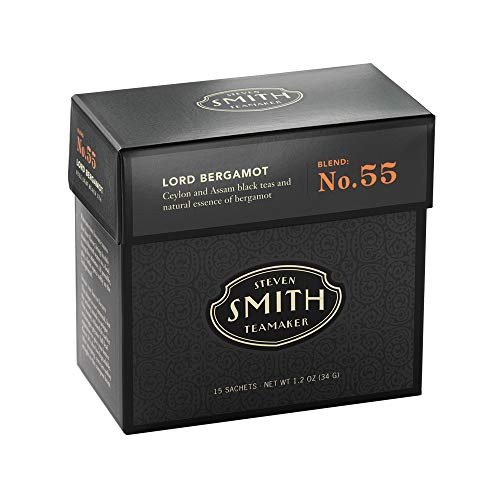 Smith Tea Lord Bergamot Black Tea – Premium Earl Grey Tea (Carton [15 Sachets])