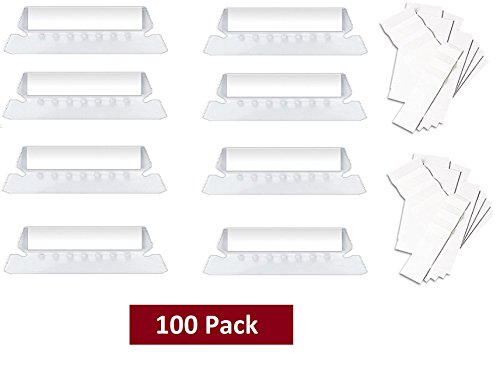 1InTheOffice Clear Hanging Folder Tabs, and Inserts 3-1/2