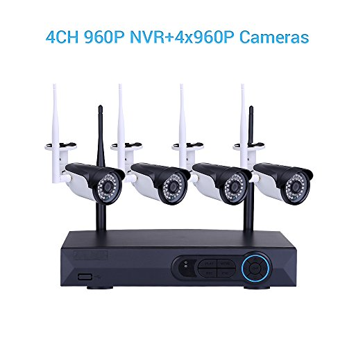 4ch 960p Hd Nvr Wireless Video Security Camera 4pcs 1 3mp