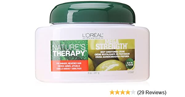 Amazon.com : LOreal Natures Therapy Mega Strength Fortifying Treatment, 8 Ounce : Standard Hair Conditioners : Beauty