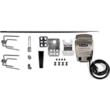 """OneGrill Heavy Duty Universal Complete Grill Rotisserie Kit- 53'' X 1/2'' Hexagon Spit Rod & 50 lb. Stainless Electric Motor (Grills Up To 47"""")"""