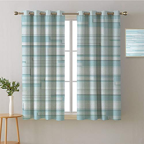 (ScottDecor Curtain Kitchen Grommets Light Darkening Curtains Design Darkening Curtains Style Darkening Curtains Bedroom/Living (2 Pieces, 27.5