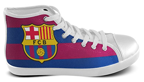 Man High Top Sneakers Voor Football Club Barcelona Fans Shoes06