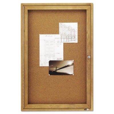 Bulletin Acco Board Enclosed (Quartet Enclosed Cork Indoor Bulletin Boards, 2 x 3 Feet, 1 Door, Oak Finish (363))