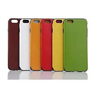 TOPMM Solid Color Pattern Grain Leather TPU Cover for iPhone 6 (Assorted Color) , Green