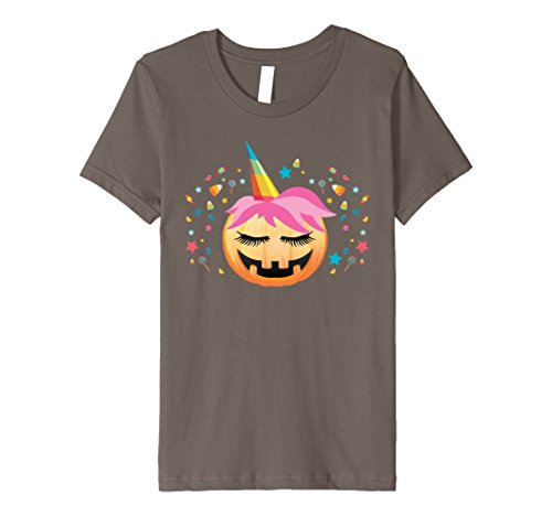 Kids Pumpkin Unicorn Shirt Cute Unicorn Halloween T-Shirt Gift 4 (Cute Girl Partner Halloween Costumes)