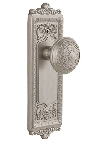 - Grandeur GS40-WINWIN-SN Windsor Longplate with Windsor Knob, Privacy, Satin Nickel Finish
