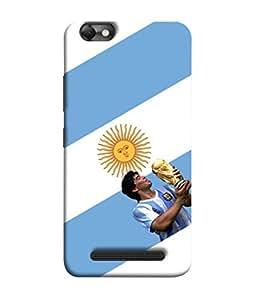 ColorKing Football Maradona Argentina 01 White shell case cover for Lenovo Vibe C