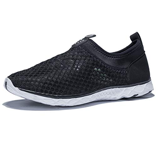KENSBUY Men's Summer Mesh Shoes,Outdoor Beach Aqua Shoes,Running,Walking EU41 Black by KENSBUY (Image #1)