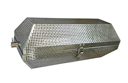 BBQMANN XFO8001 17-inch Stainless Steel Round Tumble Rotisserie Basket Fits for Most Grills