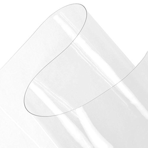 Plastex Fabrics 30 Gauge Clear Vinyl Fabric by The Yard, (Vinyl Clear Flexible)