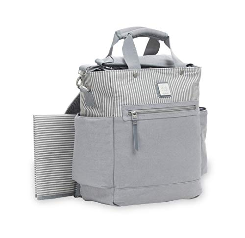 Ergobaby Coffe Run Hybrid Tote Back Pack Diaper Bag, Grey