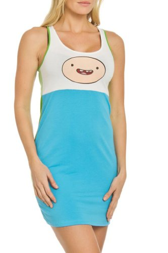 Adventure Time Finn Juniors Sleep Tank (Juniors