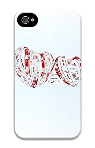 iPhone 4 4s Case, iPhone 4 4s Cases Blurred heart Custom Design PC Hard Plastics Case Cover Protector for iPhone 4 4s