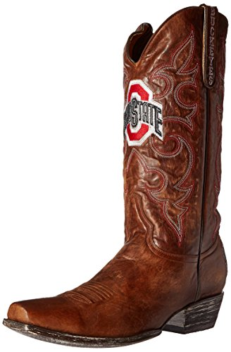 NCAA Ohio State Buckeyes Men's Board Room Style Boots, Brass, 8 D (M) US