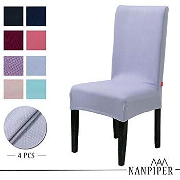 amazon com nanpiper chair covers for dining room set of 4 grey rh amazon com