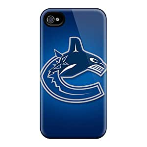 Durable Cell-phone Hard Covers For Iphone 6 With Allow Personal Design Lifelike Vancouver Canucks Pattern IanJoeyPatricia