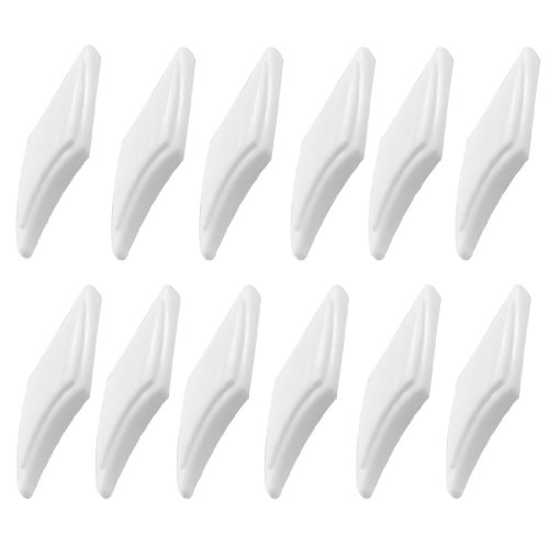 uxcell a12062800ux0325 12 Pcs Plastic Self Adhesive Truck Car Door Guard Bumper White, Pack