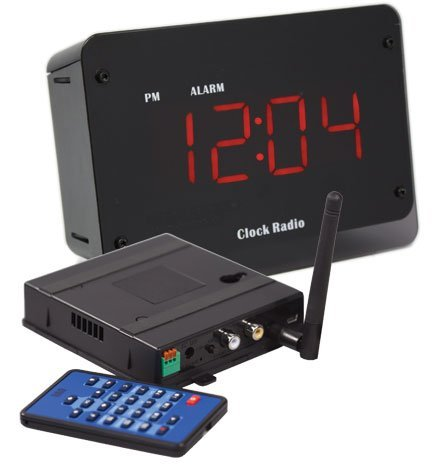 Clock Radio Security Camera w/QUAD Receiver