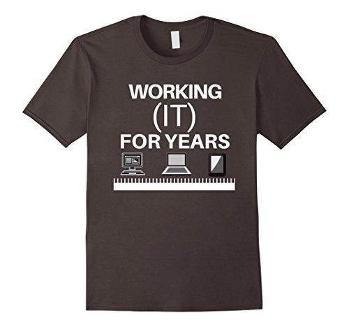 Mens Funny Computer Networking Information Technology Pro T-shirt Medium Asphalt
