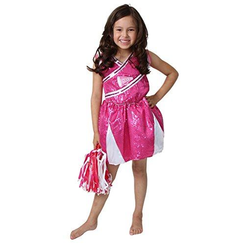 Girls Hot Pink Cheerleader Costume, Size 6/8 (Cheerleader Costume Girls)