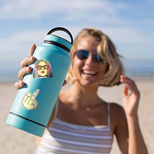 Mizzuco Vinyl Stickers Waterproof Cool Stickers 50 Pieces for Teens Girls Laptop Bumper Helmet Ipad Car Luggage Water Bottle (XH132)