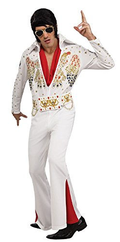 Rubie's Elvis Presley - Adult Deluxe Jumpsuit Costume,White,X-Large