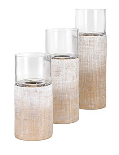 Imax Lidded Box - IMAX Arya Candleholders-Set of 3 Cement Lidded Boxes