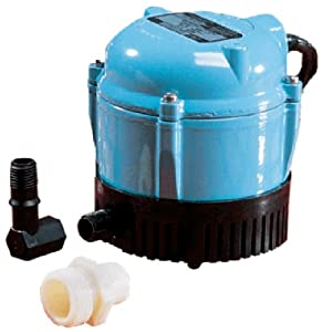 2. Little Giant 500500 1-AA-18 Submersible Cover Pump with 18-Feet Cord, 170 GPH
