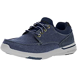 Skechers Men's Relaxed Fit-Elent-Mosen Boat Shoe,navy,14 M US