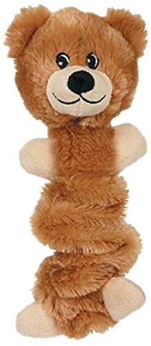 Zanies Bungee Bear Toy for Pets, Light Brown