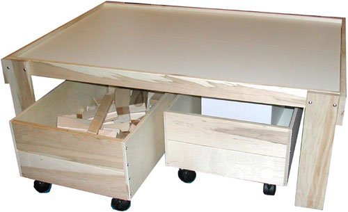 Table Trundle Train - Beka Train Table with Top and Two Trundles
