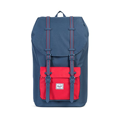 Herschel Supply Co. Little America Backpack, Navy/Navy Rubber/Red Insert