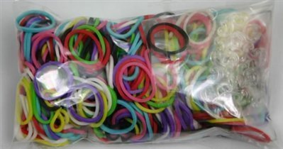 Original Rainbow Loom Assorted Rubber Bands 600 Pc with 24 C-Clips