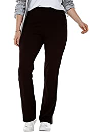 Plus Size Petite Stretch Cotton Bootcut Yoga Pant