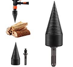 Belupai Divisor de madera de tronco tornillo cono driver port/átil herramienta de corte de madera brocas para taladro de mano