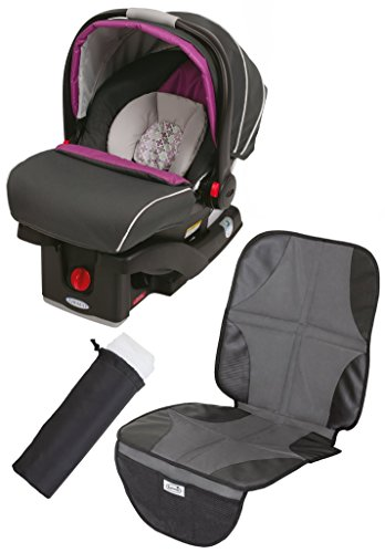 Graco SnugRide Click Connect 35 Infant Car Seat with Car Seat Mat & Carrier Netting, - Graco Step Safeseat