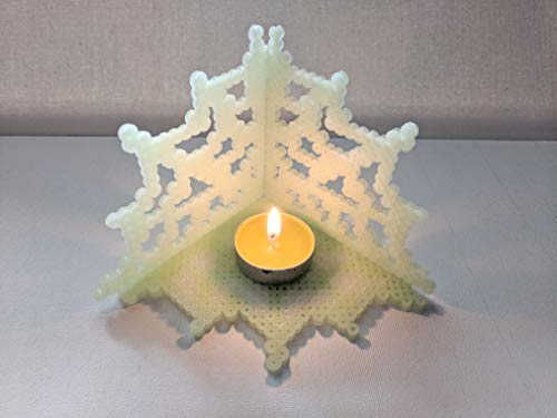 Spiderweb Candle Holder - Glow in the Dark Candle Holder - Halloween Decor -